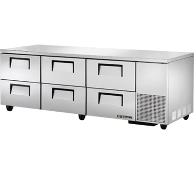 True TUC-93D-6 30.9-cu ft Undercounter Refrigerator w/ (3) Sections & (6) Drawers, 115v