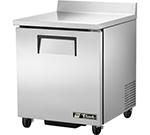 "True TWT-27 27.63"" Work Top Refrigerator w/ (1) Section, 115v"