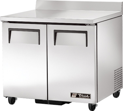"""True TWT-36 36.38"""" Work Top Refrigerator w/ (2) Sections, 115v"""