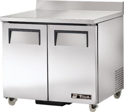 "True TWT-36-ADA 36.38"" Work Top Refrigerator w/ (2) Sections, 115v"