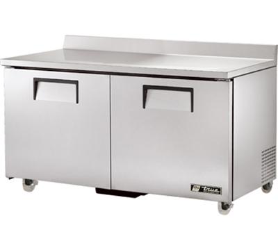 "True TWT-60-ADA 60.38"" Work Top Refrigerator w/ (2) Sections, 115v"