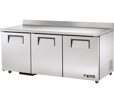 "True TWT-72-ADA 72.38"" Work Top Refrigerator w/ (3) Sections, 115v"