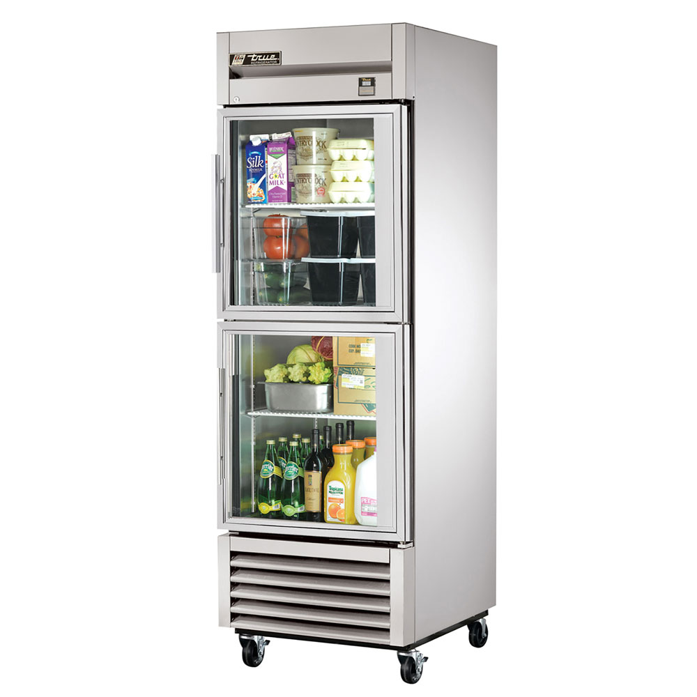 "True TS-23G-2 27"" Single Section Reach-In Refrigerator, (2) Glass Door, 115v"