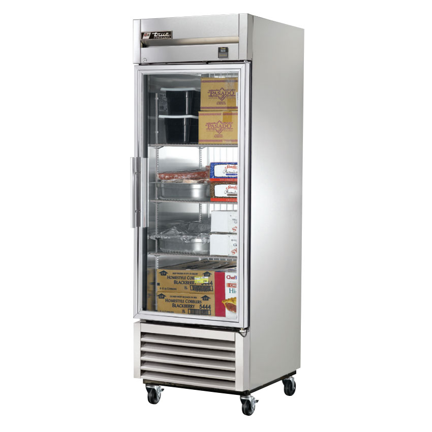 "True TS-23G-LD 27"" Single Section Reach-In Refrigerator, (1) Glass Door, 115v"