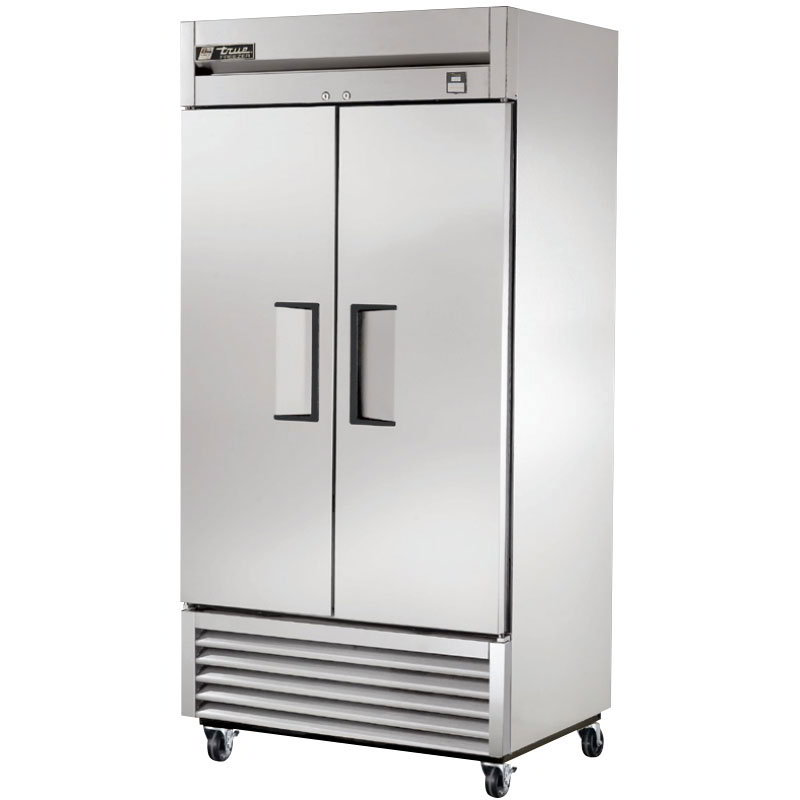 "True TS-35F 39.5"" Two Section Reach-In Freezer, (2) Solid Doors, 115v"