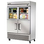 "True TS-49-2-G-2 54"" Two Section Reach-In Refrigerator, (2) Glass Door & (2) Solid Door, 115v"