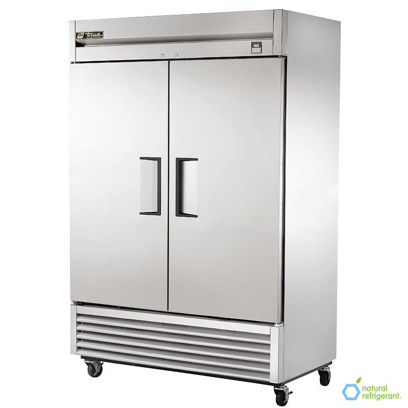 "True TS-49F-HC 54.13"" Two Section Reach-In Freezer, (2) Solid Doors, 115v"