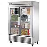 "True TS-49FG-LD 54.13"" Two Section Reach-In Freezer, (2) Glass Doors, 115v"
