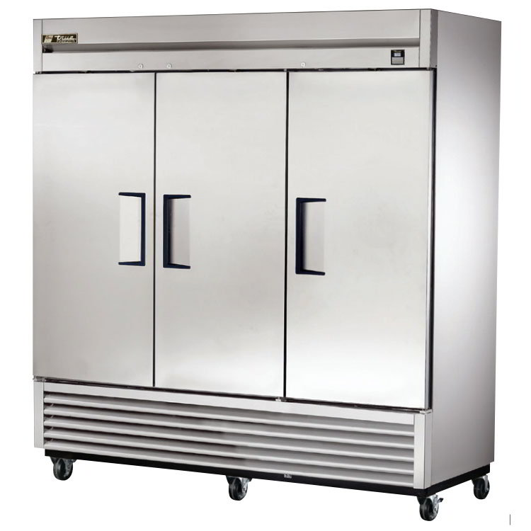 "True TS-72F-HC 78.38"" Three Section Reach-In Freezer, (3) Solid Doors, 115v"