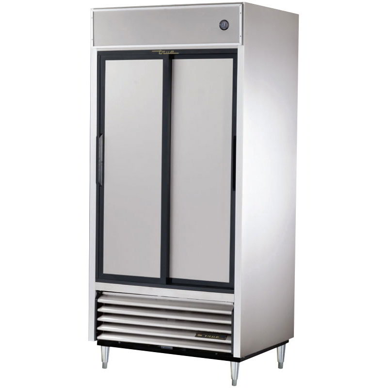"True TSD-33 39.5"" Two Section Reach-In Refrigerator, (2) Solid Door, 115v"