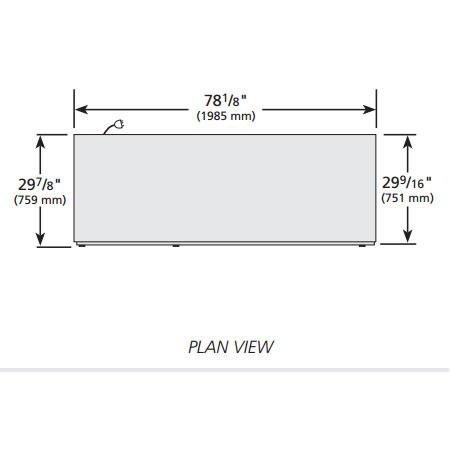 """True TSD-69G-LD 78"""" Three Section Reach-In Refrigerator, (3) Glass Door, 115v"""