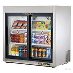 "True TSD-9G-LD 36"" Countertop Refrigerator w/ Front Access - Sliding Door, Stainless, 115v"