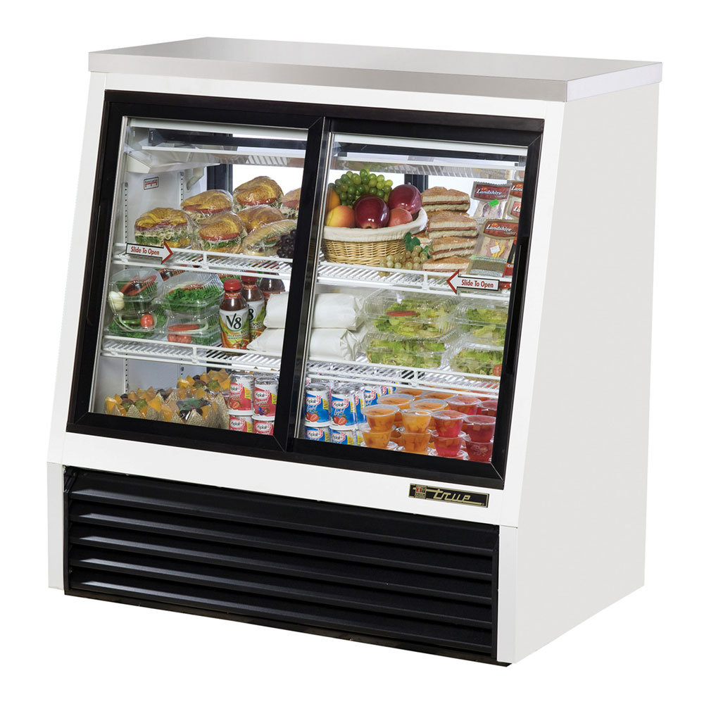 "True TSID-48-4 48.5"" Self Service Refrigerated Deli Case w/ Straight Glass - (3) Level, 115v"