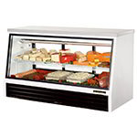 "True TSID-72-3-L 72"" Full Service Deli Case w/ Straight Glass - (2) Level. 115v"