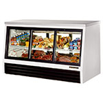"True TSID-72-6-L 72"" Self Service Deli Case w/ Straight Glass - (2) Levels, 115v"