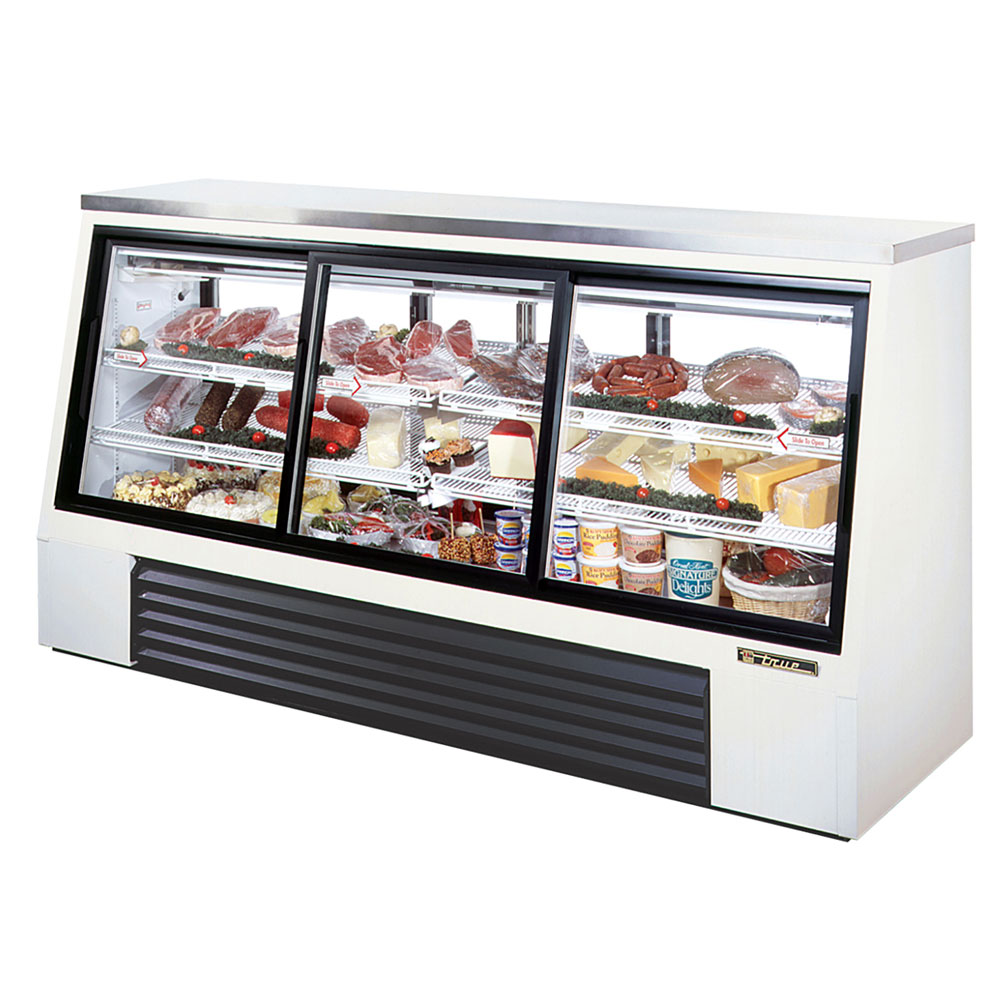"True TSID-96-6 96"" Self Service Deli Case w/ Straight Glass - (3) Levels, 115v"