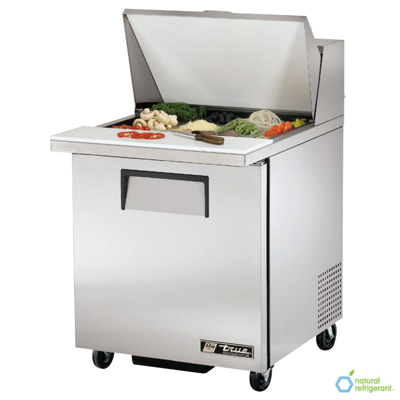 "True TSSU-27-12M-B 27"" Sandwich/Salad Prep Table w/ Refrigerated Base, 115v"