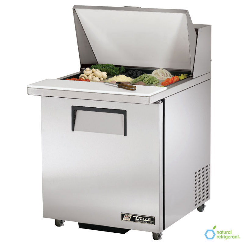 "True TSSU-27-12M-B LH 27"" Sandwich/Salad Prep Table w/ Refrigerated Base, 115v"