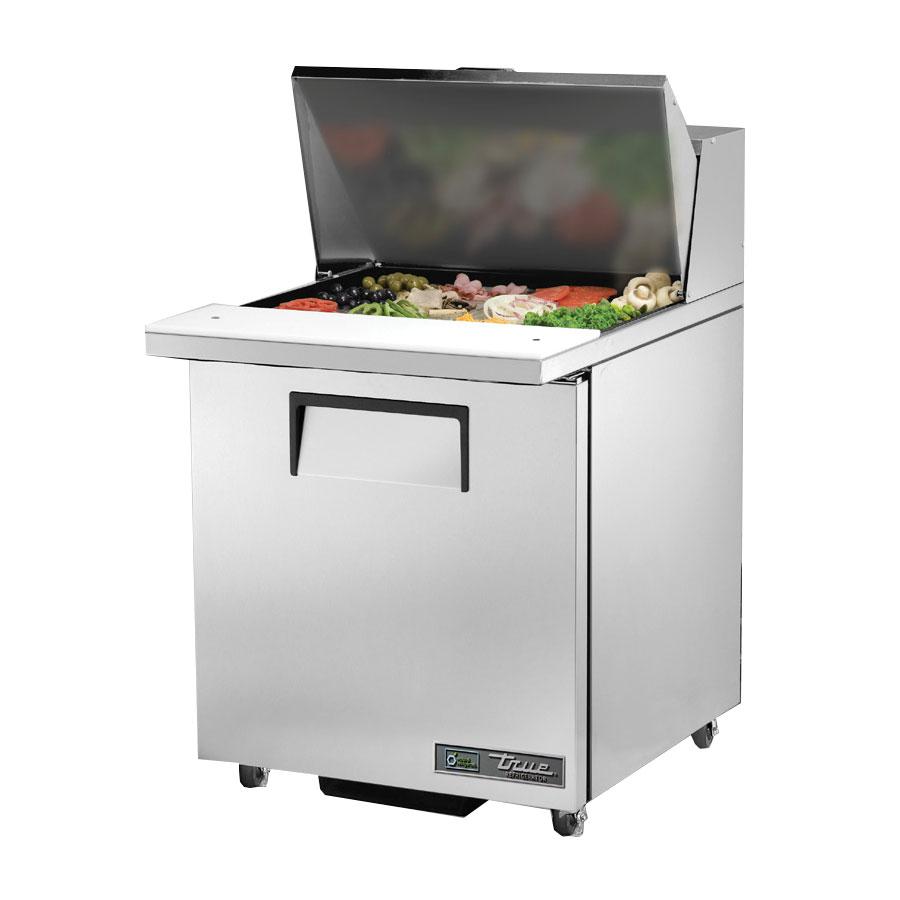 """True TSSU-27-12M-C-HC LH 27.63"""" Sandwich/Salad Prep Table w/ Refrigerated Base, 115v"""