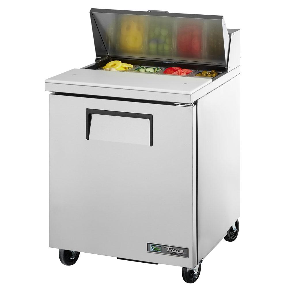 """True TSSU-27-08-HC LH 27.63"""" Sandwich/Salad Prep Table w/ Refrigerated Base, 115v"""