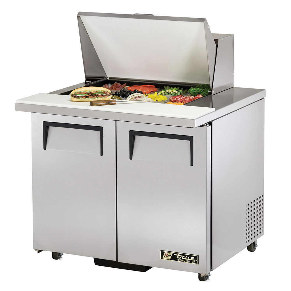 "True TSSU-36-12M-BADA 36"" Sandwich/Salad Prep Table w/ Refrigerated Base, 115v"