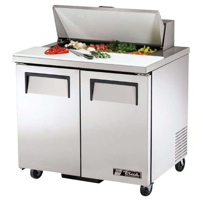 "True TSSU-36-8 36"" Sandwich/Salad Prep Table w/ Refrigerated Base, 115v"