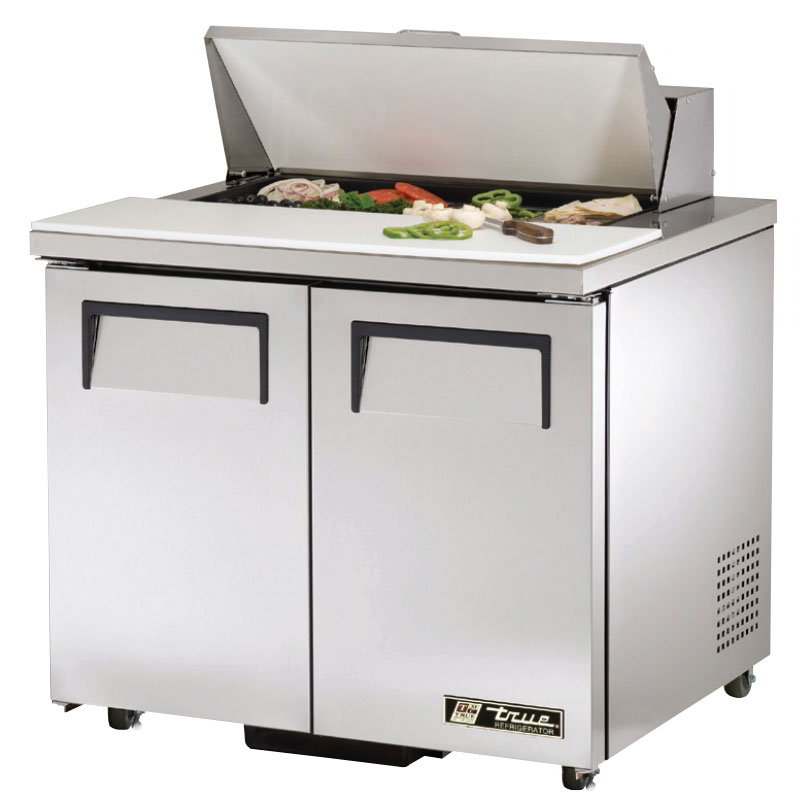 "True TSSU-36-08-ADA 36"" Sandwich/Salad Prep Table w/ Refrigerated Base, 115v"