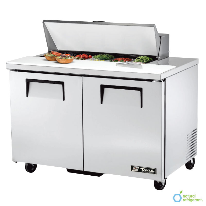 "True TSSU-48-10 48"" Sandwich/Salad Prep Table w/ Refrigerated Base, 115v"