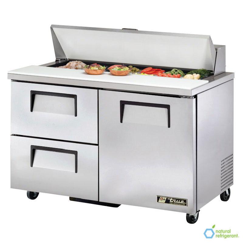 "True TSSU-48-12D-2-HC 48"" Sandwich/Salad Prep Table w/ Refrigerated Base, 115v"