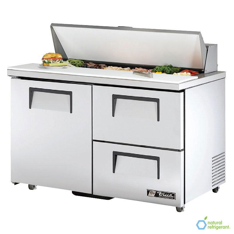 """True TSSU-48-12D-2-ADA 48"""" Sandwich/Salad Prep Table w/ Refrigerated Base, 115v"""