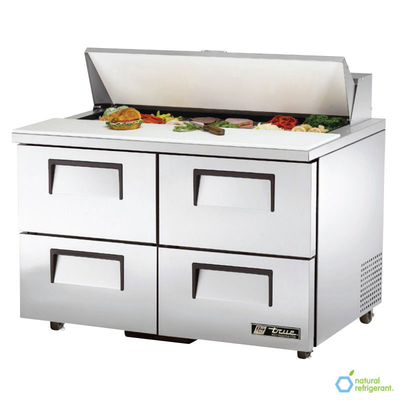 "True TSSU-48-12D-4 48"" Sandwich/Salad Prep Table w/ Refrigerated Base, 115v"