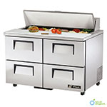 "True TSSU-48-12D-4-ADA-HC 48.38"" Sandwich/Salad Prep Table w/ Refrigerated Base, 115v"