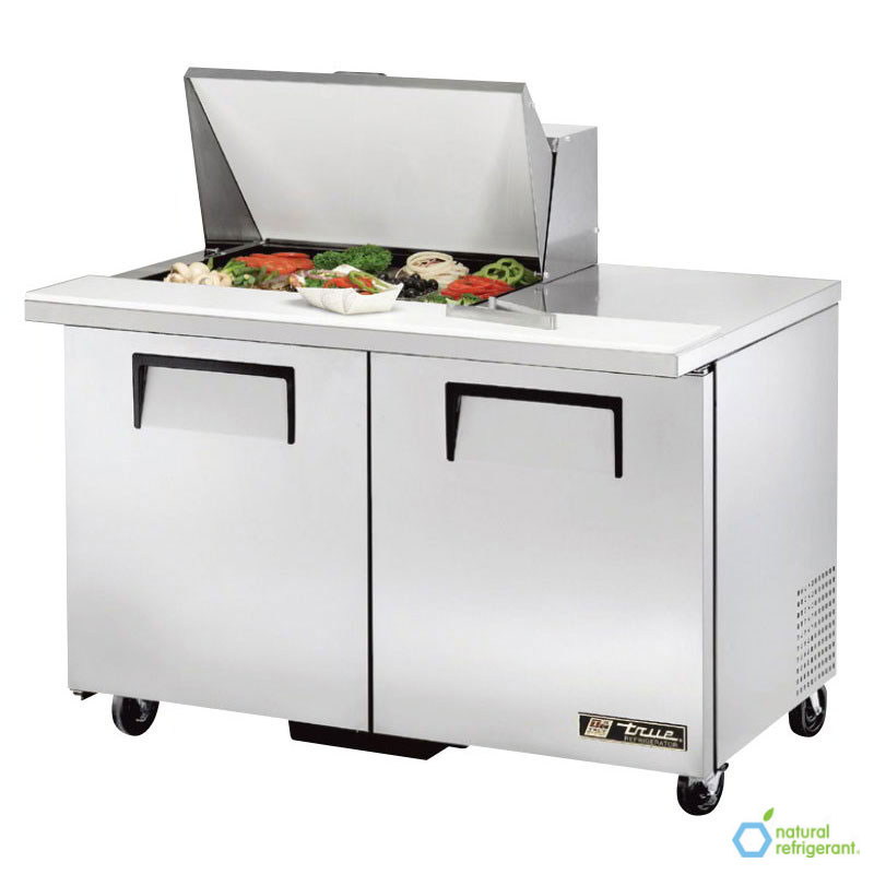 "True TSSU-48-12M-B 48"" Sandwich/Salad Prep Table w/ Refrigerated Base, 115v"