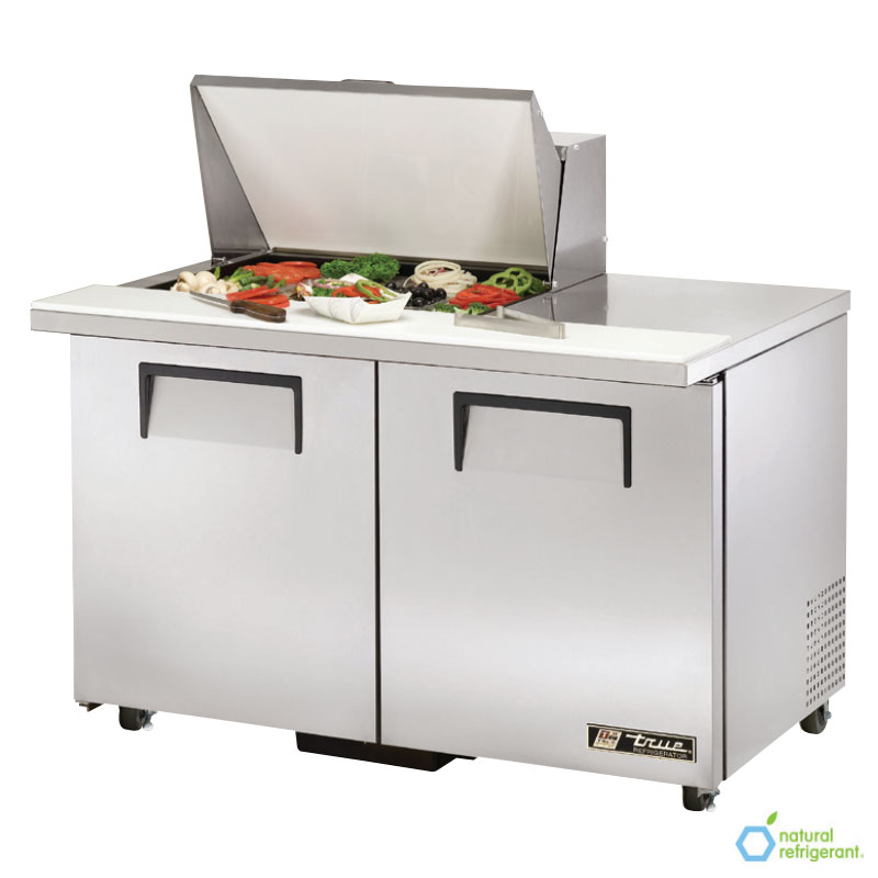 "True TSSU-48-12M-BADA 48"" Sandwich/Salad Prep Table w/ Refrigerated Base, 115v"