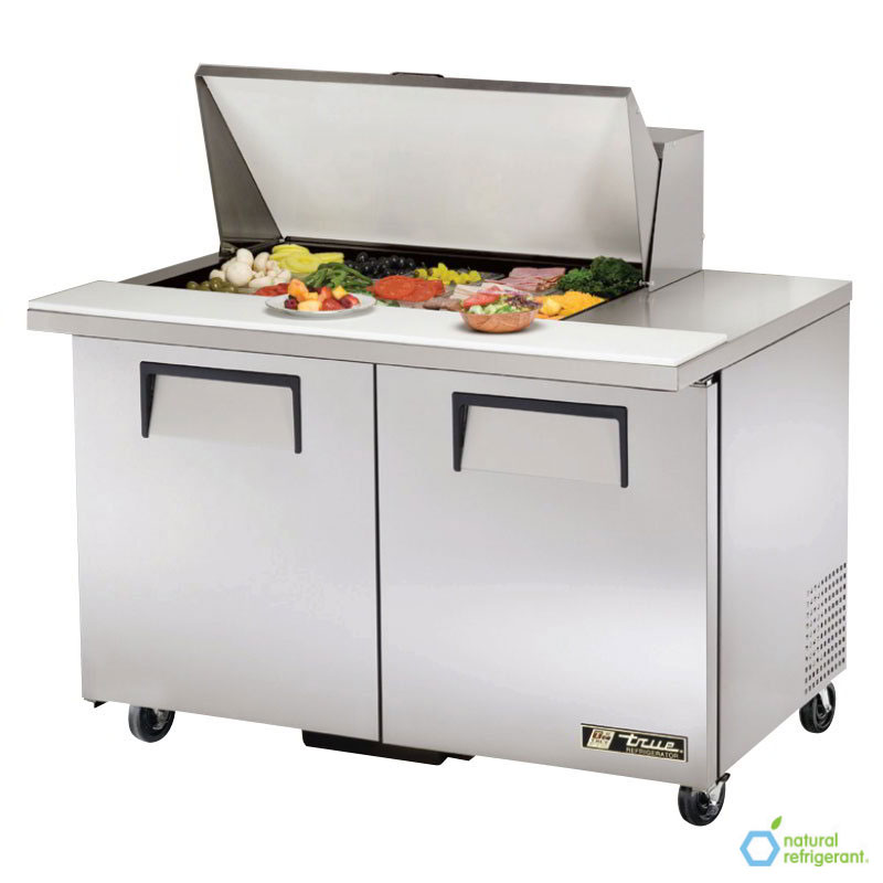 "True TSSU-48-15M-B 48"" Sandwich/Salad Prep Table w/ Refrigerated Base, 115v"