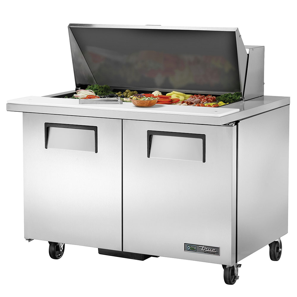 "True TSSU-48-18M-B 48"" Sandwich/Salad Prep Table w/ Refrigerated Base, 115v"