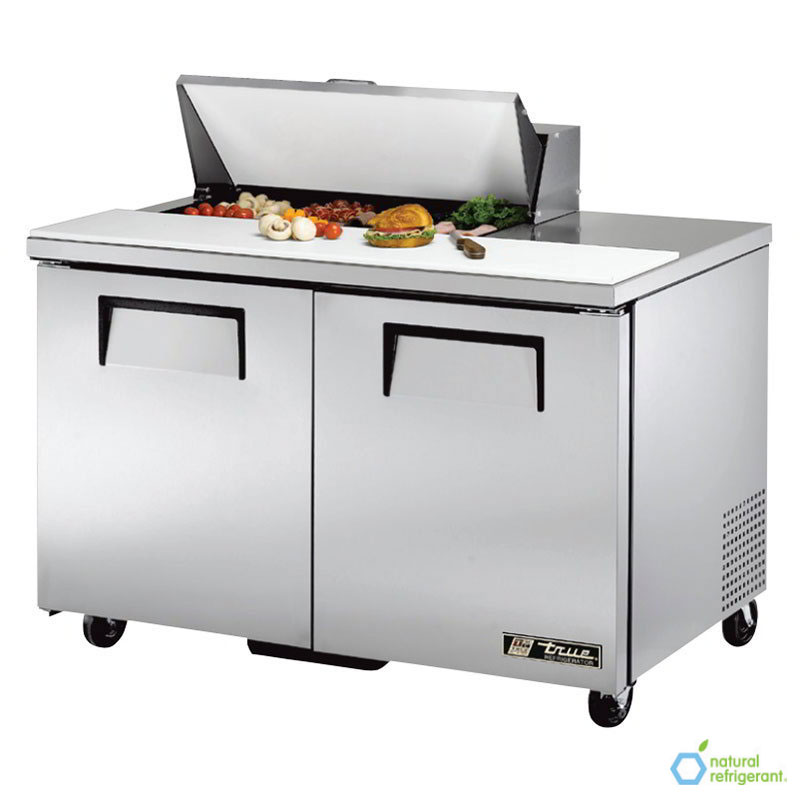 "True TSSU-48-08 48"" Sandwich/Salad Prep Table w/ Refrigerated Base, 115v"