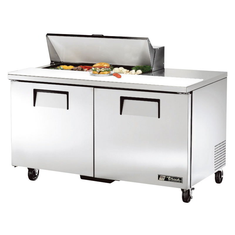"True TSSU-60-10 60"" Sandwich/Salad Prep Table w/ Refrigerated Base, 115v"