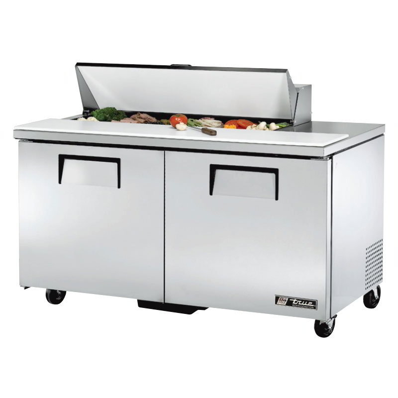 "True TSSU-60-12 60"" Sandwich/Salad Prep Table w/ Refrigerated Base, 115v"