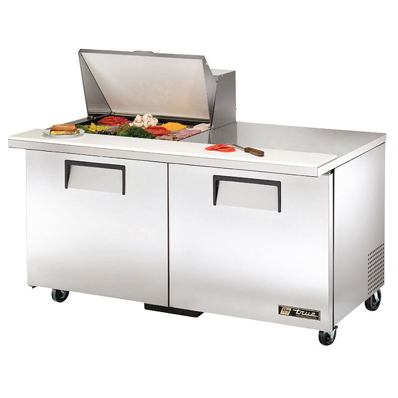 "True TSSU-60-12M-B-HC 60"" Sandwich/Salad Prep Table w/ Refrigerated Base, 115v"