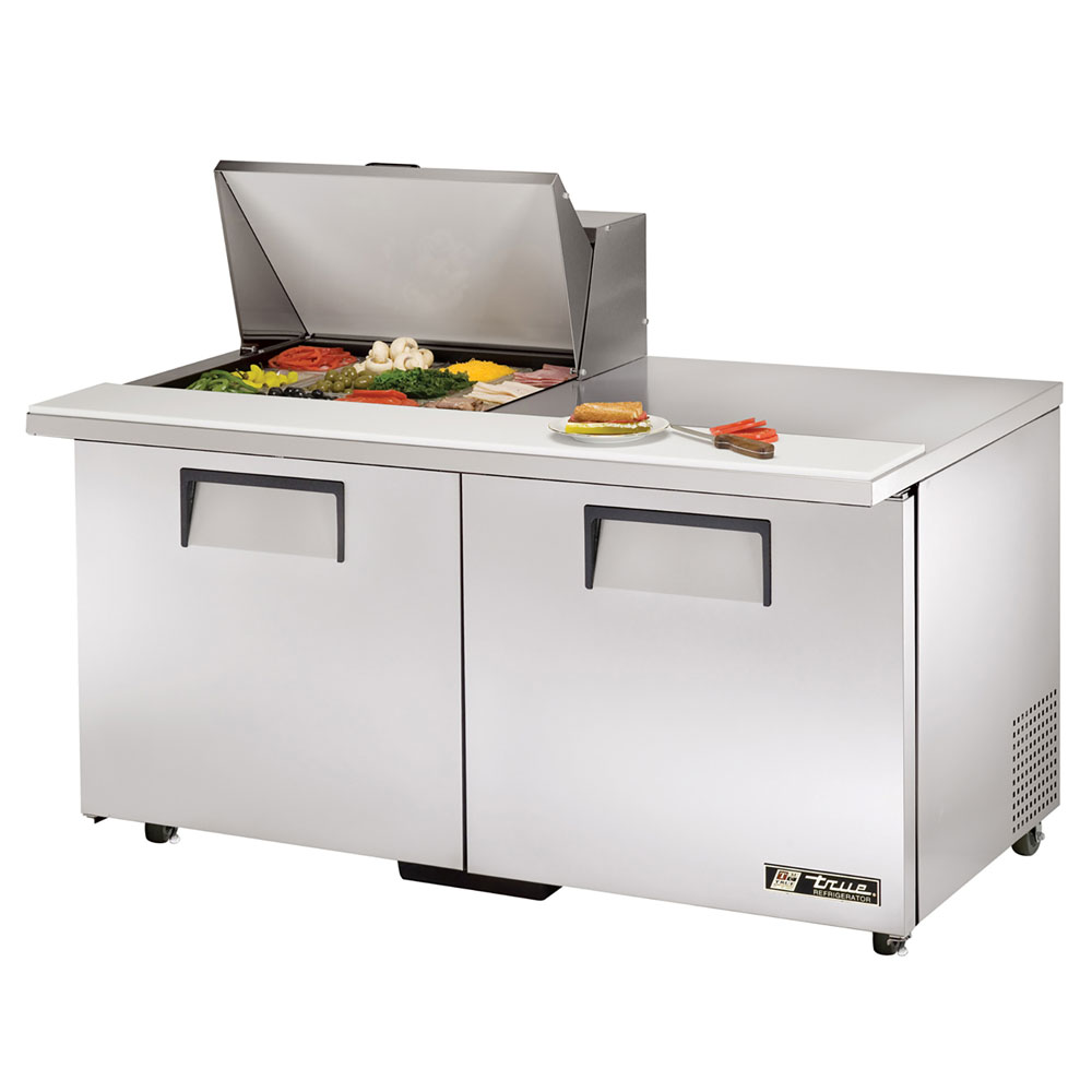 "True TSSU-60-12M-BADA 60"" Sandwich/Salad Prep Table w/ Refrigerated Base, 115v"
