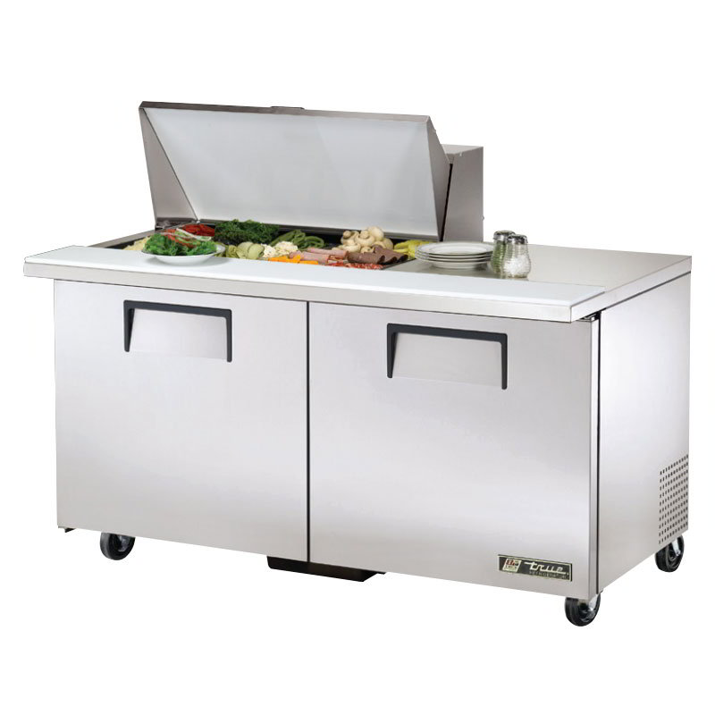 """True TSSU-60-15M-B-HC 60"""" Sandwich/Salad Prep Table w/ Refrigerated Base, 115v"""