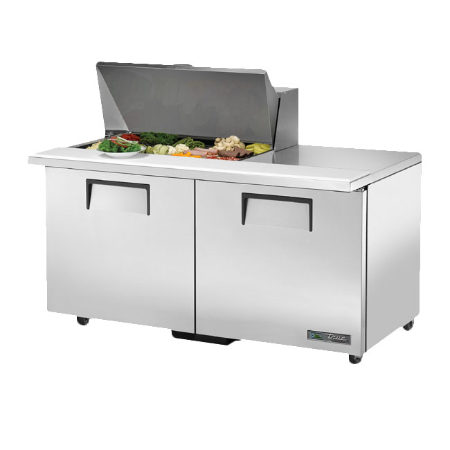 "True TSSU-60-15M-BADA 60"" Sandwich/Salad Prep Table w/ Refrigerated Base, 115v"