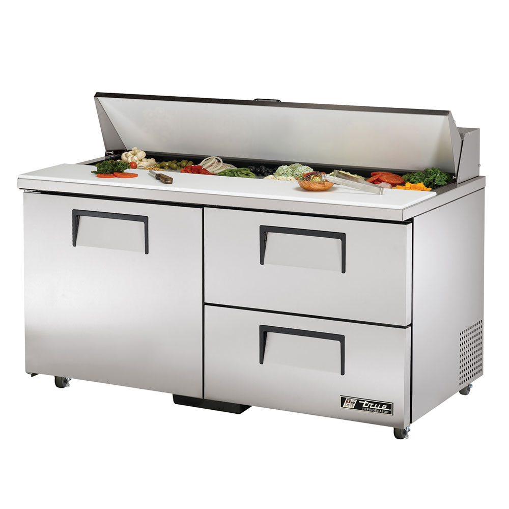 "True TSSU-60-16D-2ADA 60"" Sandwich/Salad Prep Table w/ Refrigerated Base, 115v"