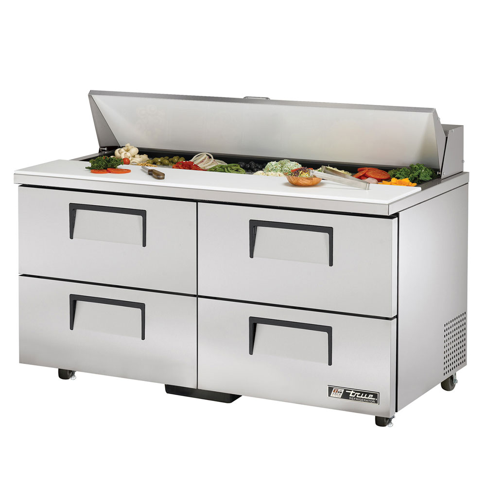 "True TSSU-60-16D-4ADA 60"" Sandwich/Salad Prep Table w/ Refrigerated Base, 115v"