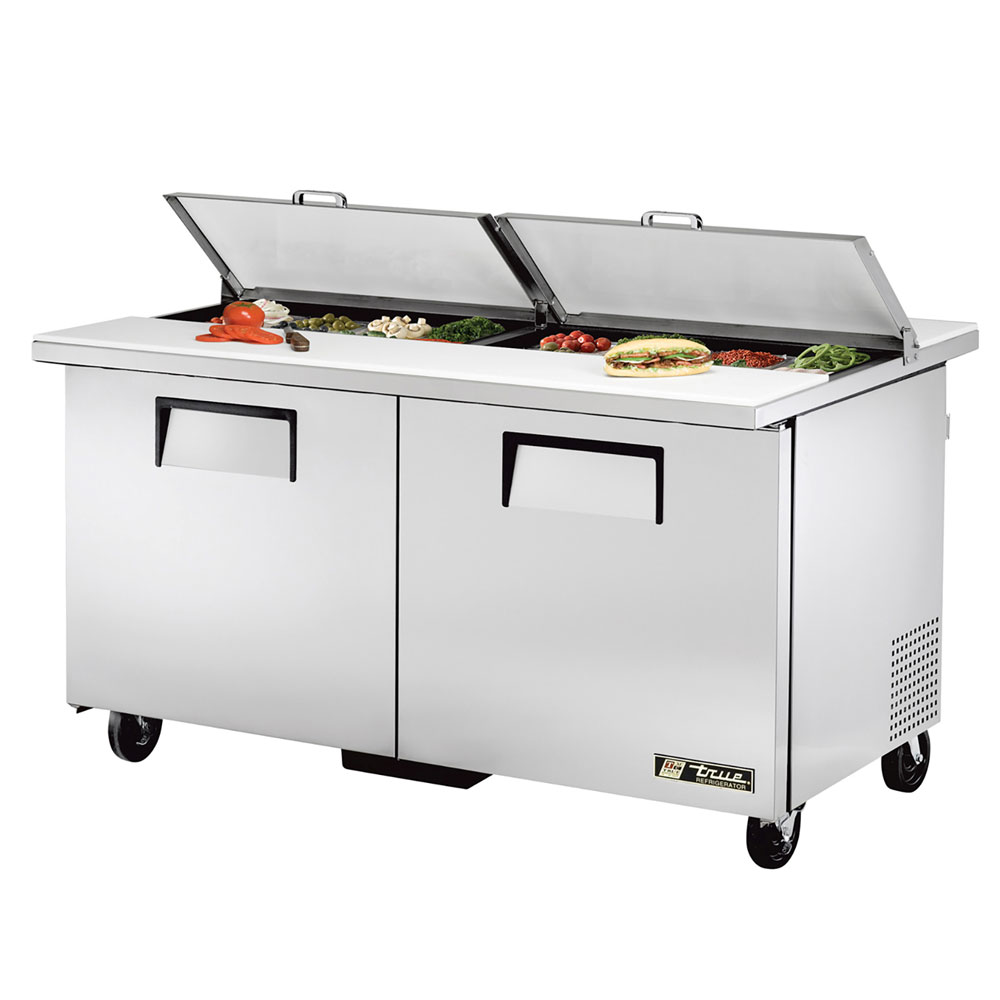 "True TSSU-60-16-DS-ST 60"" Sandwich/Salad Prep Table w/ Refrigerated Base, 115v"