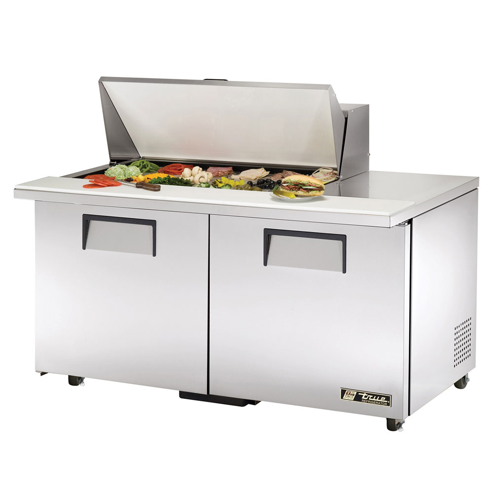 "True TSSU-60-18M-BADA 60"" Sandwich/Salad Prep Table w/ Refrigerated Base, 115v"