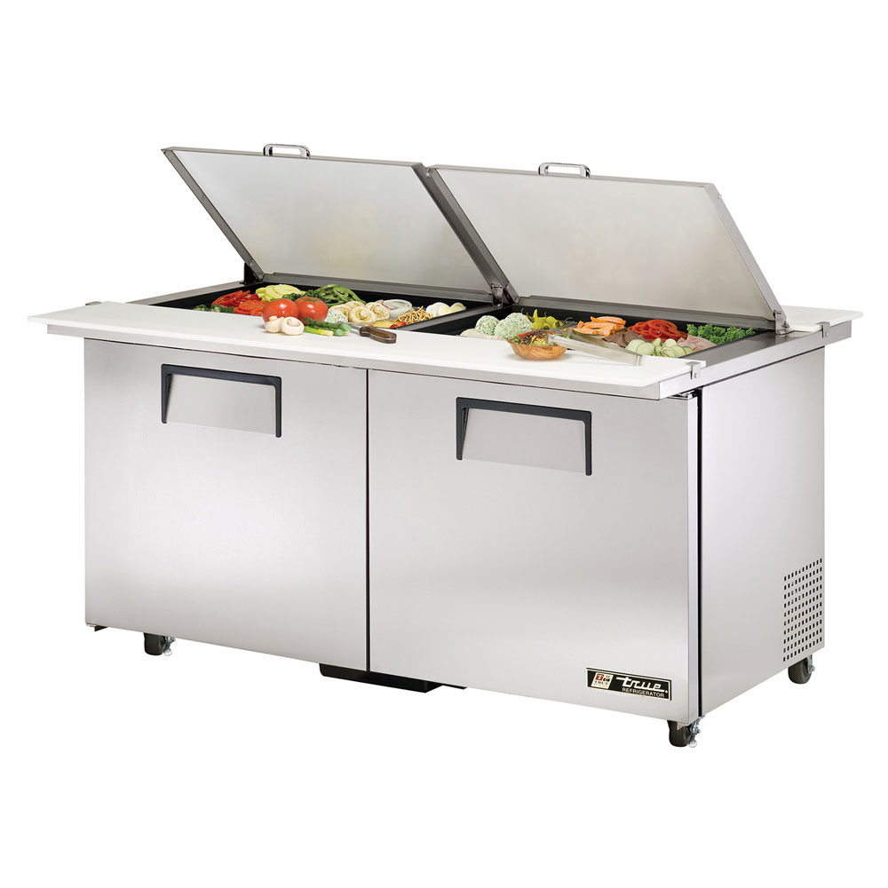 "True TSSU6024MBDSSTAD 60"" Sandwich/Salad Prep Table w/ Refrigerated Base, 115v"