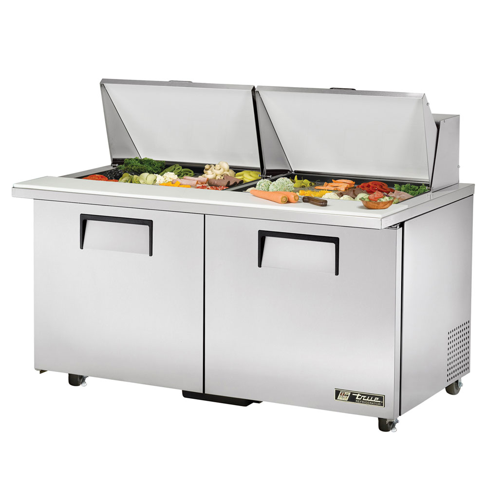 "True TSSU-6024MBSTADA 60"" Sandwich/Salad Prep Table w/ Refrigerated Base, 115v"