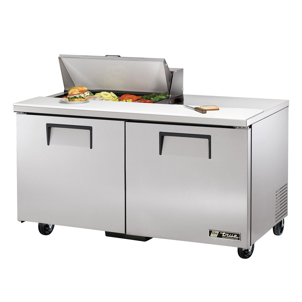 "True TSSU-60-8 60"" Sandwich/Salad Prep Table w/ Refrigerated Base, 115v"